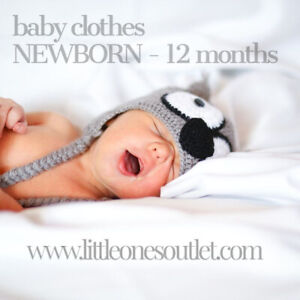 NEW & USED BABY CLOTHING - SIZES NEWBORN TO 12 MO - as low as $3