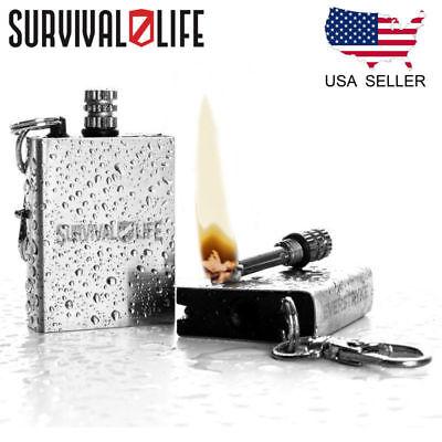 Waterproof Fire Starter Perma Match Survival Lighter Keychain Outdoor Camping Us