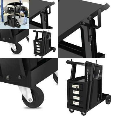 Zeny 4 Drawer Welding Welder Trolley Cart Plasma Cutter Tank Storage Mig Tig Arc