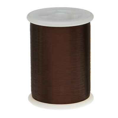"42 AWG Gauge Plain Enamel Copper Magnet Wire 1.0 lbs 51313' 0.0027"" 105C Brown"