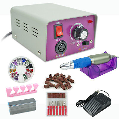 Electric Nail Art Drill File Grinding Bits Machine Manicure Kit Pedicure Tool