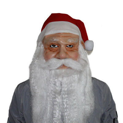 Santa Claus Christmas Mask Latex Adults Fancy Dress - Santa Claus Maske