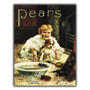 PEARS-SOAP-LETRERO-METAL-PLACA-DE-PARED-Vintage-Cocina-Bano-Anuncio