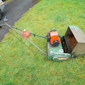 Vintage Qualcast Suffolk Punch lawnmower. Spares or repair