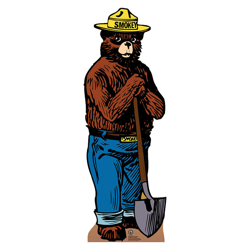 SMOKEY THE BEAR Forest Service Mascot Smoky CARDBOARD CUTOUT Standee Standup