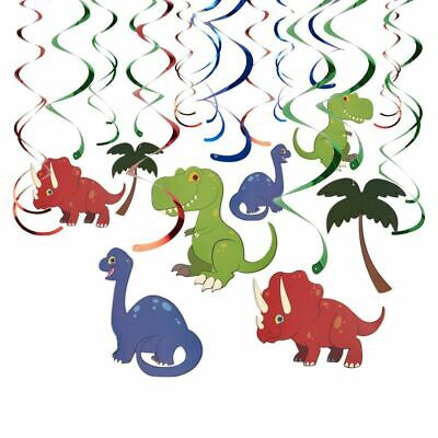 Dinosaur Birthday Decorations (30 Pieces Dinosaur Swirl, Birthday Party Decor, Hanging Streamer Party)