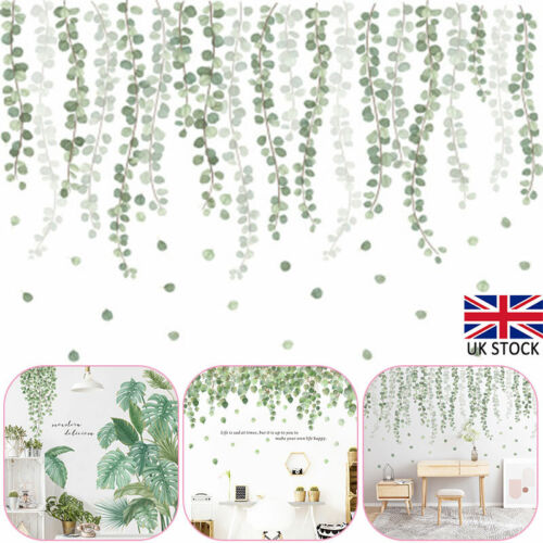Home Decoration - Tropical Leaves Green Plant Wall Sticker PVC Decal Nursery Art Mural Home Decor
