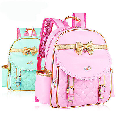 Girls Kids Backpack Schoolbag Rucksack Bookbags Handbag Cute Bowknot  Backpacks 8f608f6618ff8