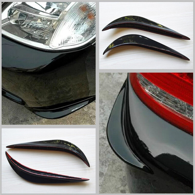 Auto Car Streamline Protection Bumper Anti-rub Crash 3M Sticker Cover Bar Black