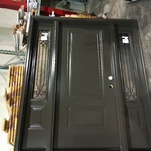 Front entrance door & sidelites