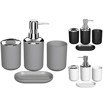 1X(Set di Accessori da Bagno in Plastica da 4 Pezzi, Set di Accessori per S V4G5