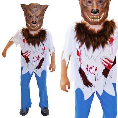 Jungen Halloween Heuler Werwolf Maskenkostüm Kinder Blood Greifer - Weiße Werwolf Kind Kostüm