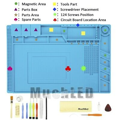 Magnetic Soldering Anti-static Silicone Repair Mat 14-in-1 Repair Tool