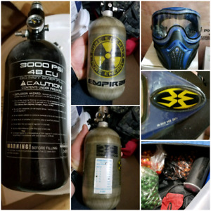 Delta BT4 paintball marker and gear