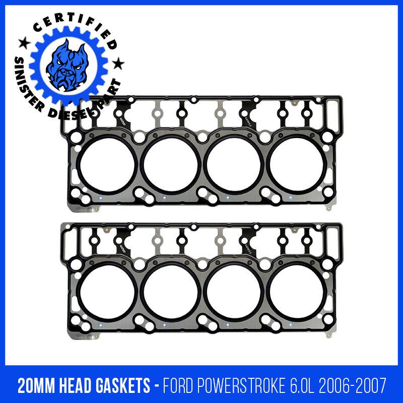 SINISTER DIESEL BLACK DIAMOND 20 MM HEAD GASKETS FOR FORD POWERSTROKE 2003-2007 6.0L