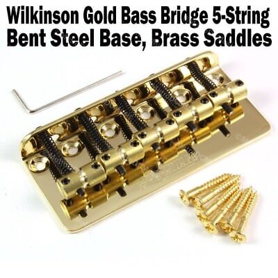 Wilkinson 5 String Gold Bass Bridge Brass Saddles Precision Jazz WBBC BB518