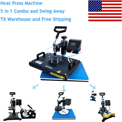 12x155 In 1heat Press Machine Digital Transfer Sublimation Diy Tshirt Mug Plate