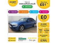 Blue BMW 320 2.0TD 2014 d M Sport FROM £51 PER WEEK!