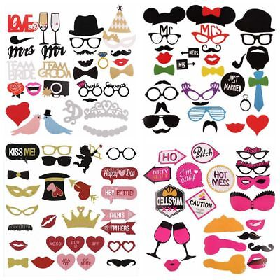 Photo Booth Props Kit Moustache Wedding Hen Party Girls Night Game (Moustache Kit)