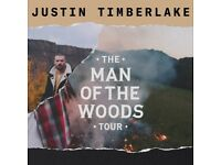2 seated tickets (BK402, Row B) for Justin Timberlake Man of the Woods tour @ O2 Arena