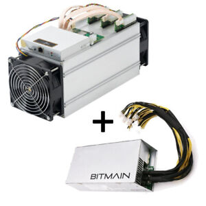 Bitmain Antminer S9 Bitcoin Miner, 0.098 J/GH, 13.5TH/s and PSU