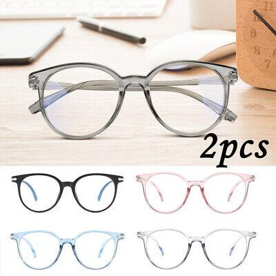 2pcs New Men Women Blue Light Blocking Glasses - Anti-Eyestrain (Women Spectacles)