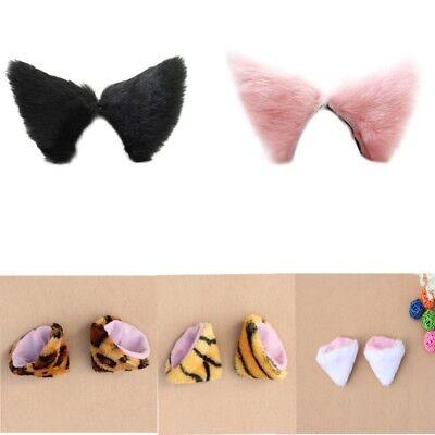 US 5 Colors Cosplay Party's Cat Fox Long Fur Ears Anime Neko Costume Hair - Fox Ears