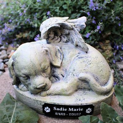 Puppy Dog Angel 9 inch Garden Statue Pet Memorial Personalized Free