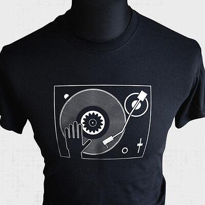 Dj Plattenspieler T-Shirt Mischen Deejay Cool Music Witzig Tanz Bpm House ()