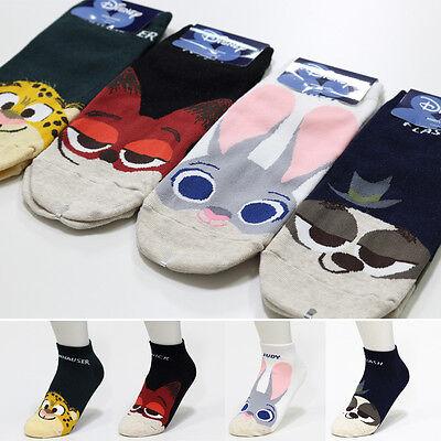 New Disney Zootopia Socks pack of 4 Pairs Judy Flash Nick Friends Cartoon Socks