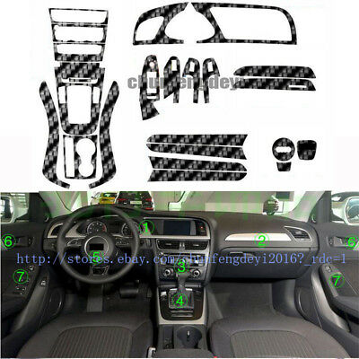 Used, 4D Carbon fiber interior trim stickers decorative stickers For Audi A5 8T 09-16 for sale  China