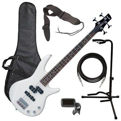Ibanez GSRM20 miKro Bass Guitar - Pearl White BASS ESSENTIALS BUNDLE for sale  Franklin