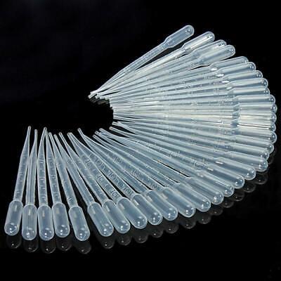 100pcs 123ml Graduated Pipettes Disposable Pasteur Plastic Eye Dropper Mat