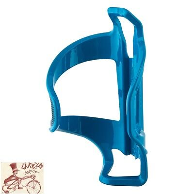 Side Water - LEZYNE FLOW SIDE LOADER RIGHT HAND BLUE WATER BOTTLE CAGE