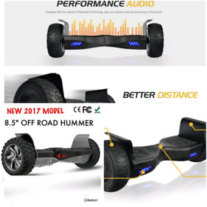Hummer hoverboard with Bluetooth and led lights