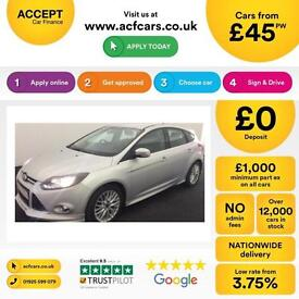Ford Focus 1.6TDCi ( 115ps ) 1560cc 2014MY Zetec S FROM £45 PER WEEK!