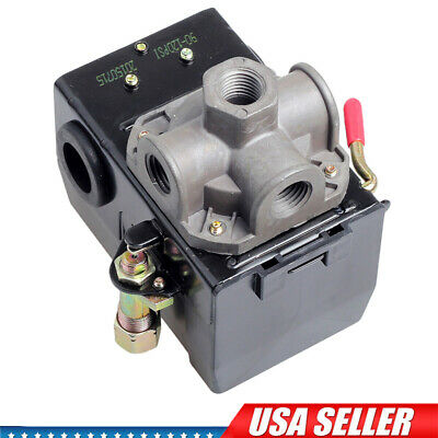 Air Compressor Pressure Switch Control Valve 4 Port 120psi Unloader Offon Lever