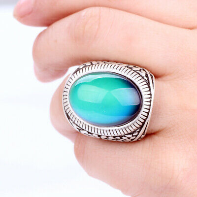 Mood Ring For Sale (Mojo Factory Sale Best Color Change Ring Big Mood Oval Stone Ring for)