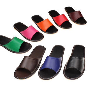 Women home flats sandals slipper floor slip on shoes for How to keep shoes from slipping on floor
