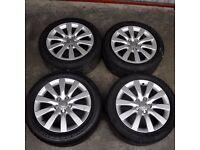 "17"" Audi A4 10 Spoke Alloy Wheels"