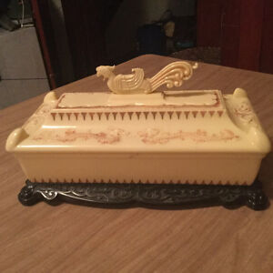 Beautiful antique French ivory dresser box for sale