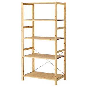 IKEA Ivar deep/wide Solid Pine Shelving system (3-6 banks)