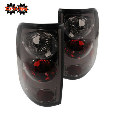 04-08 Ford F-150 Pick up Rear Euro Tail Light Lamps Smoked Tinted