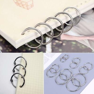 Metal Loose Leaf Book Binder Hoop Ring Multifunctional Diy Keychain Circle Album