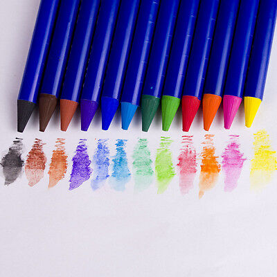 12 color Woodless Water Soluble Colour Graphite Pencil 12-set Colour pencil - Woodless Colour Pencils