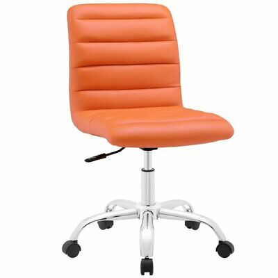 Hawthorne Collection Mid Back Armless Swivel Office Chair In Orange