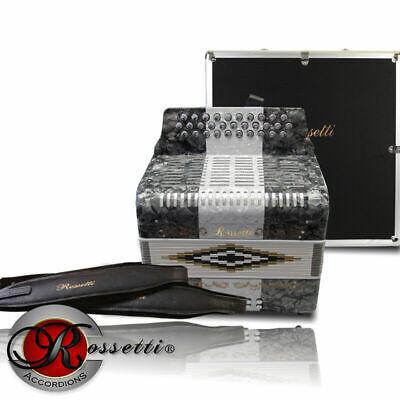 Rossetti R3112-GCF-GWG Sol 31 Button Diatonic Accordion Grey White w/ Case - New