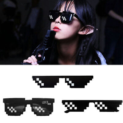 Cool Eye Glasses Unisex 8 Bit Pixel With IT Sunglasses Thug Life Eyewear Gifts - 8 Bit Sunglasses