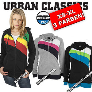 URBAN-CLASSICS-Womens-3-Colour-Jersey-Hoody-Training-Sports-Jogging-Jacket