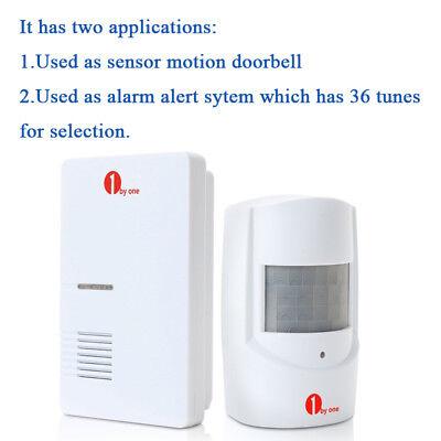100M Wireless Motion Sensor Car Detector Door Bell Gate Entry Chime Alarm System